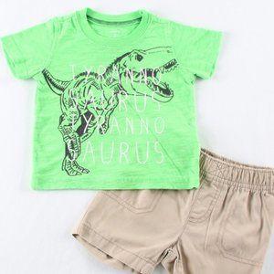 Carter's 6-9 month Boys Dinosaur Short set